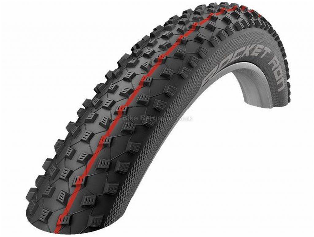 "Schwalbe Rocket Ron Addix LiteSkin Folding MTB Tyre 29"", 2.1"", Black, Red, 490g, Kevlar, Rubber"