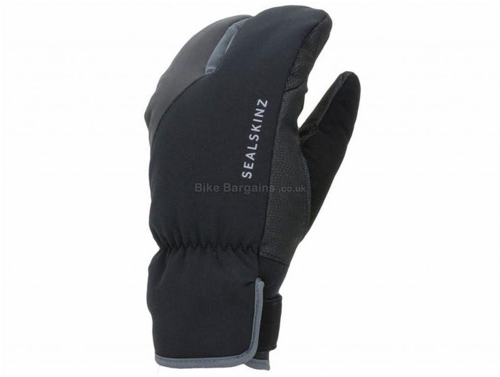Sealskinz Waterproof Extreme Cold Weather Split Gloves M, Grey, Blue, Full Finger, Polyester, Fleece
