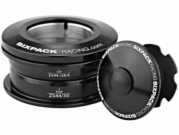 "Sixpack Racing Icon Headset 1 1/8"", Black, Alloy"