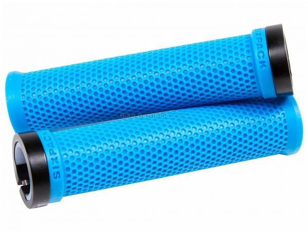 Sixpack Racing M-Trix Grips White, Green, 140mm, 30mm, Rubber, Alloy