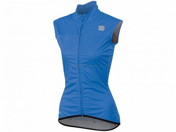 Sportful Ladies Bodyfit Pro 2.0 WS Gilet S, Blue, Black, Sleeveless, Polyester, Elastane, 136g