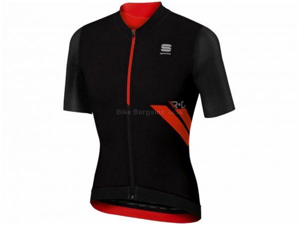 Sportful RandD Ultraskin Short Sleeve Jersey S, Black, Short Sleeve, Men's, Polyester & Elastane