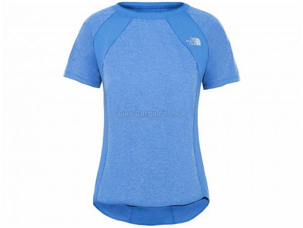 The North Face Ladies Ambition Short Sleeve T-Shirt XS, Orange, Grey, Ladies, Short Sleeve, Polyester