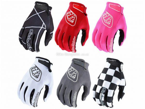 Troy Lee Designs Air Full Finger MTB Gloves 2019 XXL, White, Red, Black, Yellow, Orange, Blue, Pink, Full Finger, Polyester