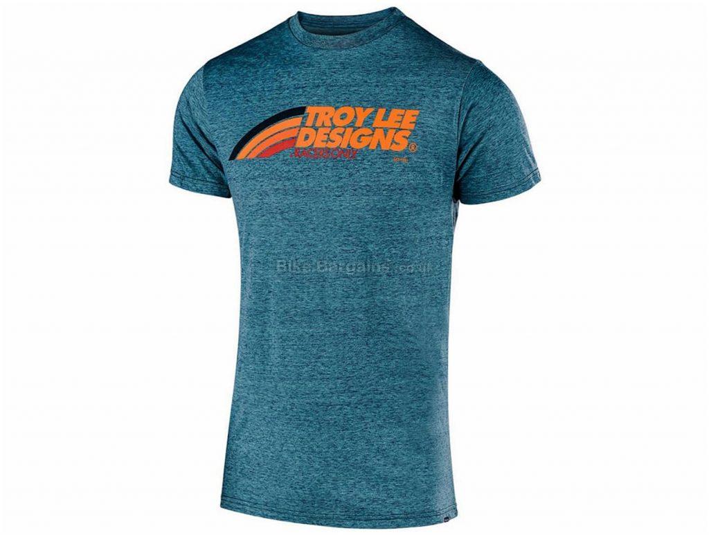 Troy Lee Designs Flowline Tech T-Shirt S, Grey, Men's, Short Sleeve, Polyester, Cotton