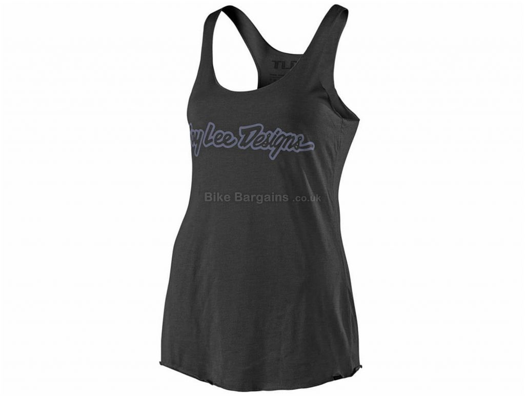 Troy Lee Designs Ladies Signature Vest L, Black, Grey, Ladies, Sleeveless, Polyester, Cotton