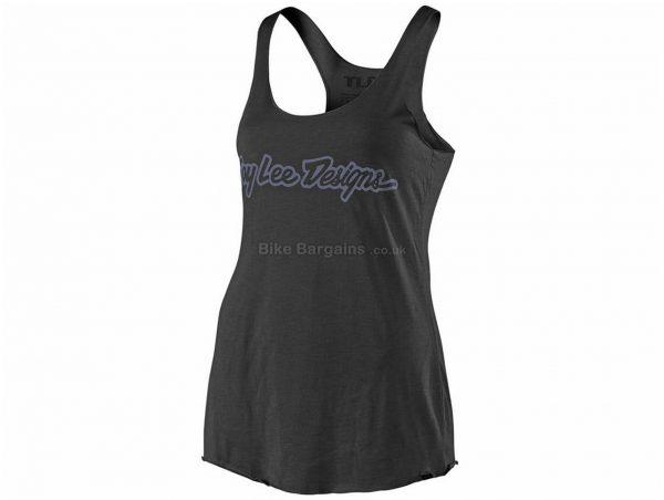 Troy Lee Designs Ladies Signature Vest L, Black, Grey, Ladies, Sleeveless, Polyester, Cotton