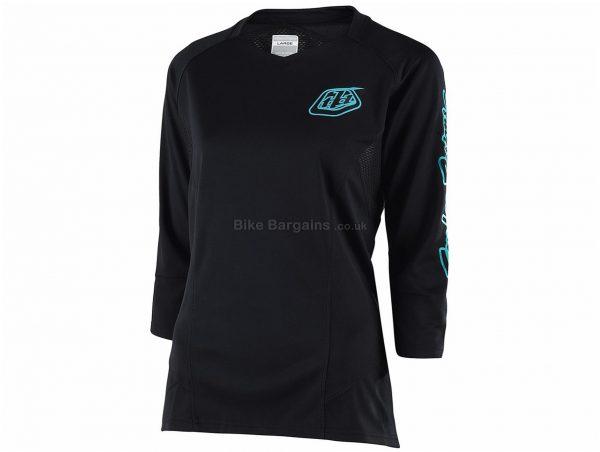 Troy Lee Designs Ruckus Ladies 3/4 Sleeve MTB Jersey 2019 L, Turquoise, Blue, 3/4 Sleeve, Polyester