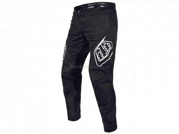 "Troy Lee Designs Sprint Youth MTB Trousers 2019 18"", Black, Polyester, Spandex"