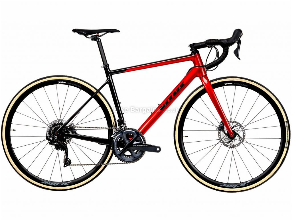 Vitus Zenium CRS Ultegra Road Bike 2020 S, Red, Black, Carbon Frame, 22 Speed, 700c Wheels, Double Chainring, Disc Brakes, 8.4kg
