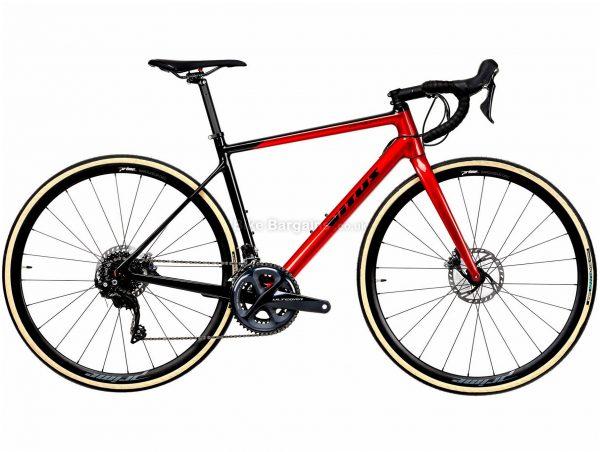 Vitus Zenium CRS Ultegra Road Bike 2020 S, Red, Black, Carbon Frame, 22 Speed, 700c Wheels, Double Chainring, Disc Brakes, 8.4kg