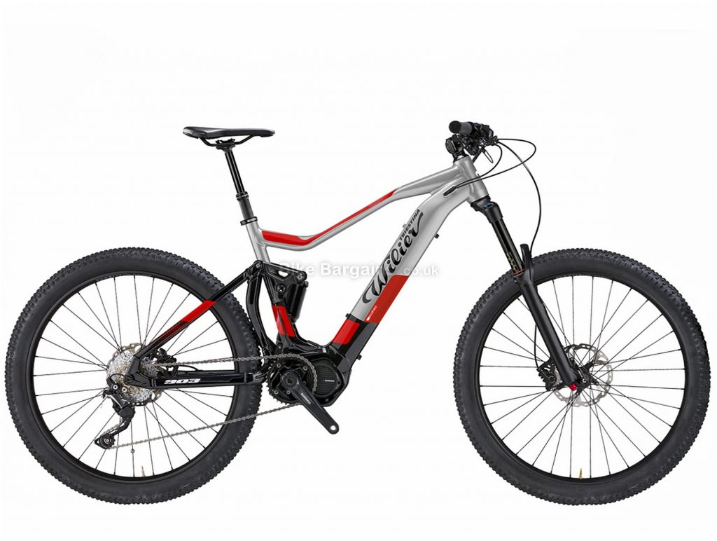 "Wilier E903 TRN Pro XT Alloy Full Suspension Electric Mountain Bike 2019 S, Grey, Black, Red, Alloy Frame, 29"" wheels, 12 Speed, Single Chainring, Disc Brakes, Full Suspension"