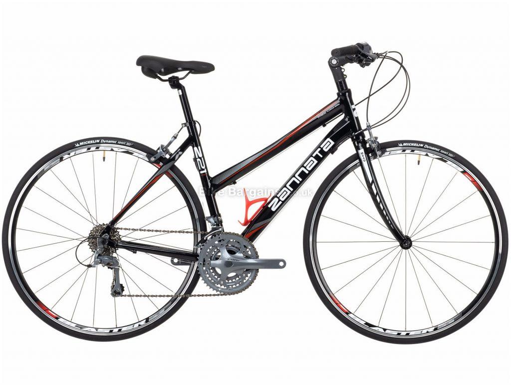 Zannata Z21 Ladies Alloy City Bike 2020 48cm, 53cm, Black, Grey, Red, Alloy Frame, 24 Speed, 700c Wheels, Triple Chainring, Caliper Brakes