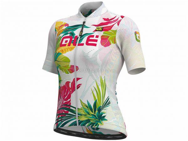 Ale Ladies Solid Tropika Short Sleeve Jersey L,XL,XXL, White, Ladies, Short Sleeve, Polyester, Elastane