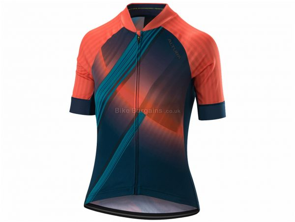 Altura Icon Obit Ladies Short Sleeve Jersey 16, Blue, Orange, Yellow, Green, Short Sleeve, Polyester, Elastane