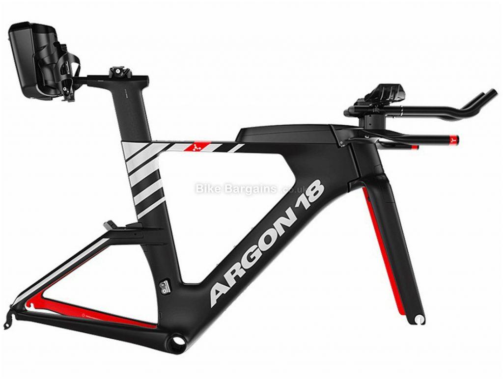 Argon 18 E-119 Tri+ Carbon Frame 2020 L, Black, White, Red, 1.184kg, Carbon Frame, 700c wheels, Caliper Brakes,