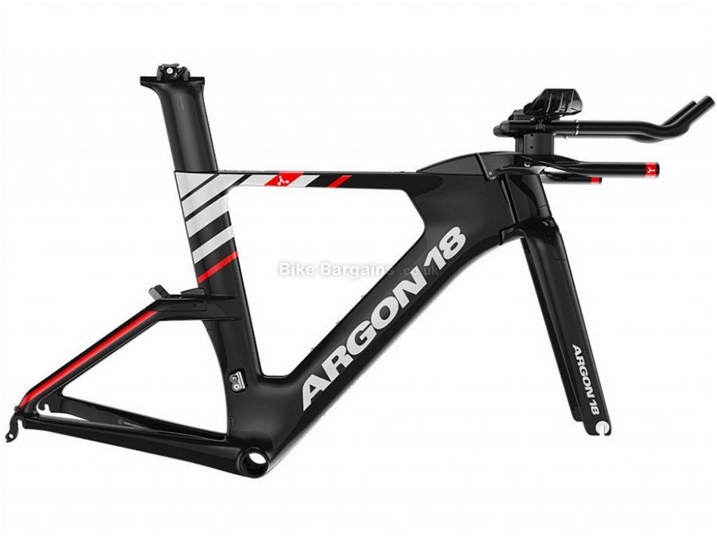 Argon 18 E-119 Tri Carbon Frame 2020 XL, Black, White, Red, 1.27kg, Carbon Frame, 700c wheels, Caliper Brakes,