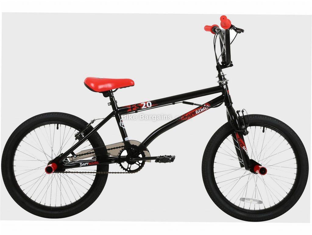 "Barracuda 20"" FS-20 Kids BMX Bike One Size, Black, Red, Steel Frame, Single Speed, 20"" Wheels, Caliper Brakes, 13kg"