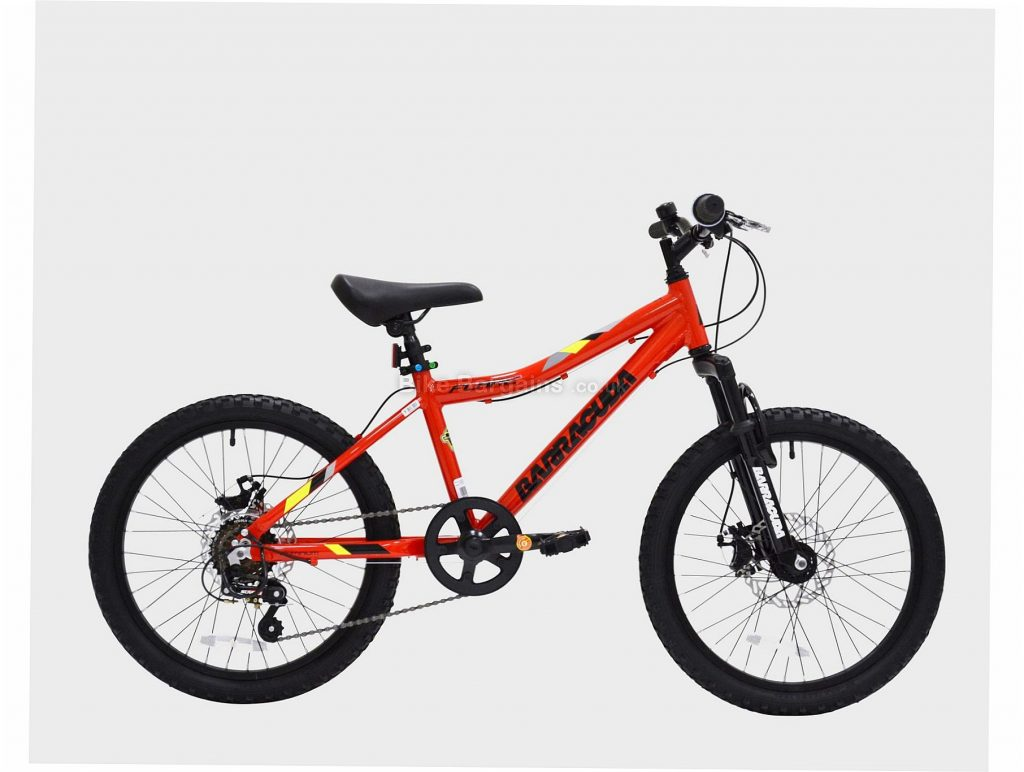 "Barracuda Flare 20"" Kids Mountain Bike One Size, Black, Red, Alloy Frame, 6 Speed, 20"" Wheels, Disc Brakes"
