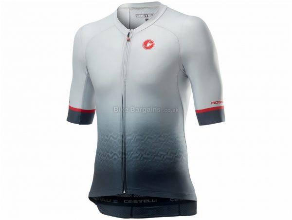 Castelli Aero Race 6.0 Short Sleeve Jersey XXL, Blue, Men's, Short Sleeve, Polyester, Elastane