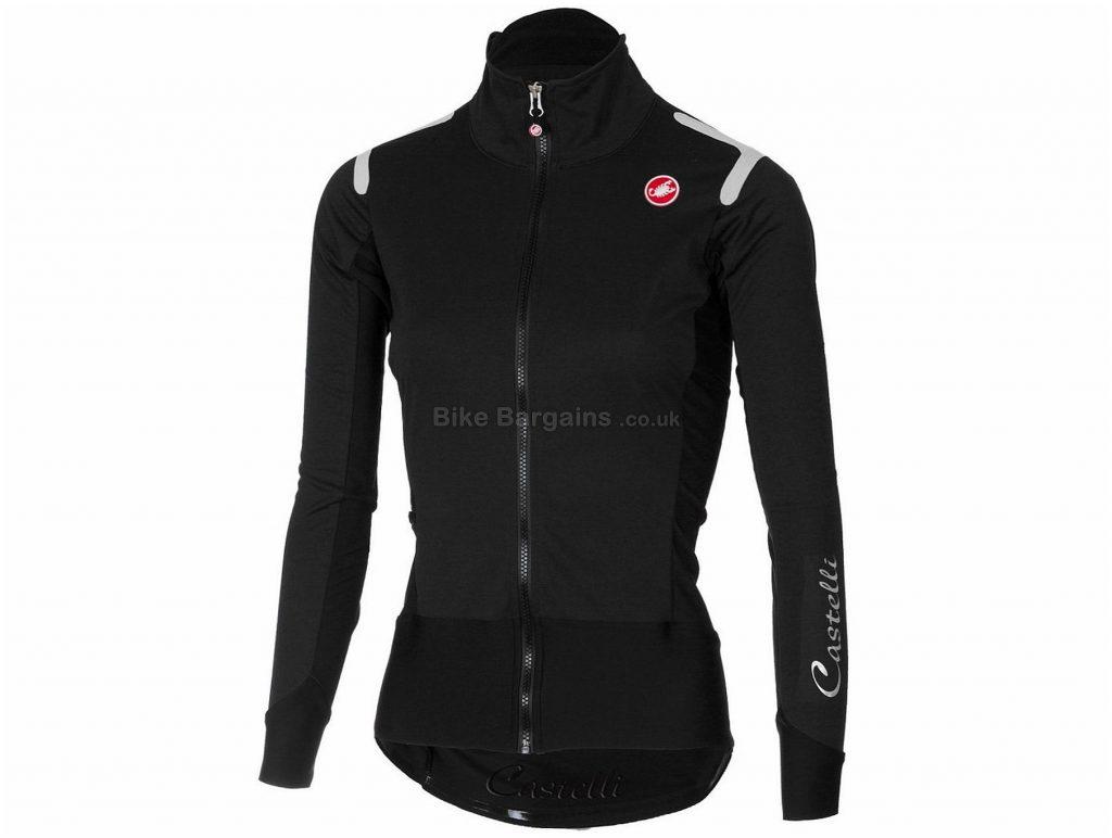 Castelli Alpha RoS Light Ladies Jacket XS, Grey, Black, Ladies, Long Sleeve, Weighs 340g, Polyester, Elastane