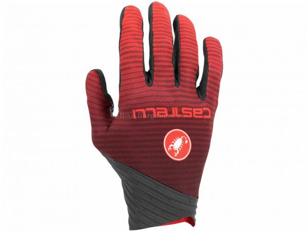 Castelli CW 6.1 Cross Gloves XS, Orange, Grey, Men's, Full Finger, Silicone, Polyester