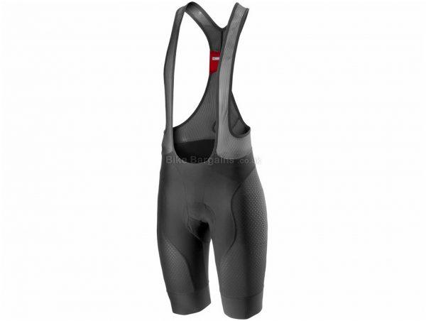 Castelli Free Protect Race Bib Shorts S,M,L,XL,XXL,XXXL, Black, Men's, Weighs 203g, Lycra