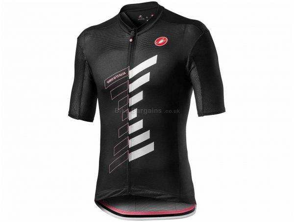 Castelli Giro Trofeo Short Sleeve Jersey M, Black, Men's, Short Sleeve, Weighs 150g, Polyester, Elastane