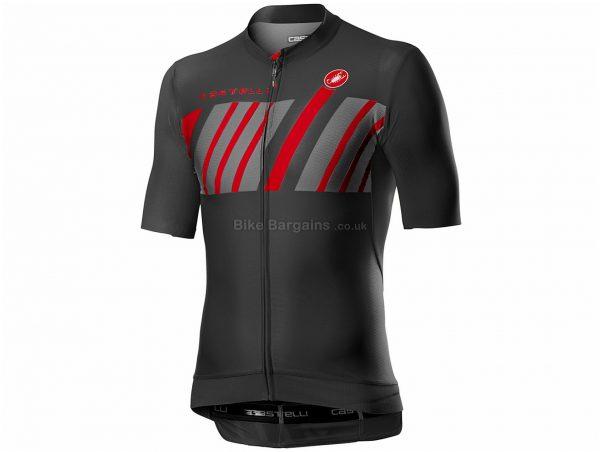 Castelli Hors Categorie Short Sleeve Jersey XS,S,M,L,XL,XXL,XXXL, Grey, Men's, Short Sleeve, Weighs 116g, Polyester, Elastane