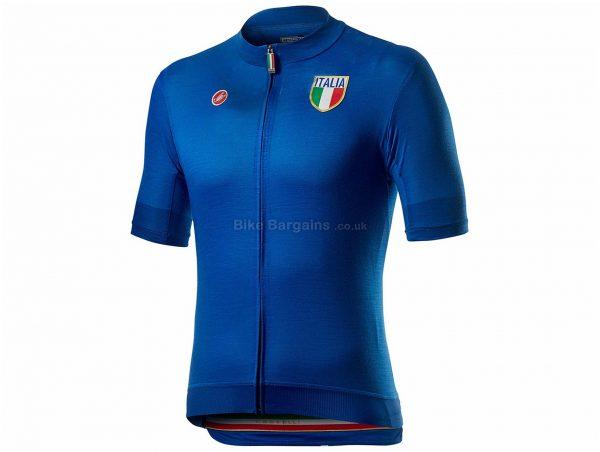 Castelli Italia 20 Short Sleeve Jersey XS,S,M,L,XXL, Blue, Red, Men's, Short Sleeve, Polyester, Elastane