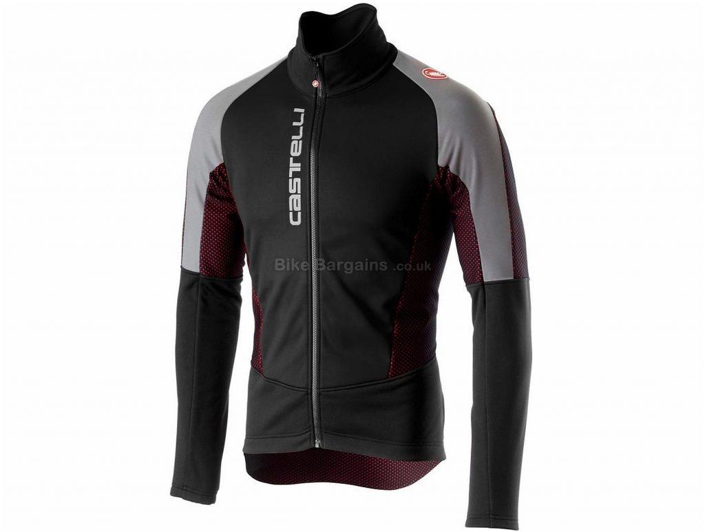 Castelli Mortirolo V Reflex Jacket S, Black, Grey, Men's, Long Sleeve, Weighs 509g, Polyester, Elastane
