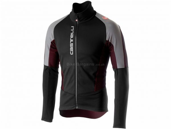 Castelli Mortirolo V Reflex Jacket S, Black, Grey, Men's, Long Sleeve, Weighs 509g, Polyester, Elastane