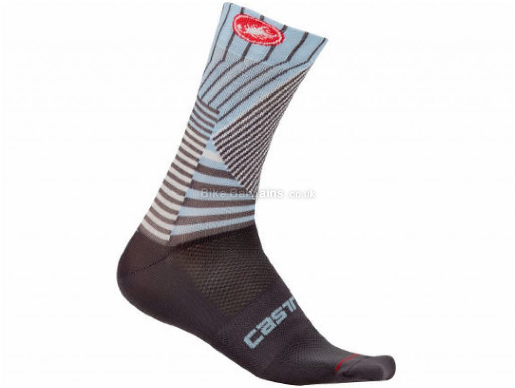 Castelli Pro Mesh 15 Socks XXL, Grey, Blue, Men's, Polyester