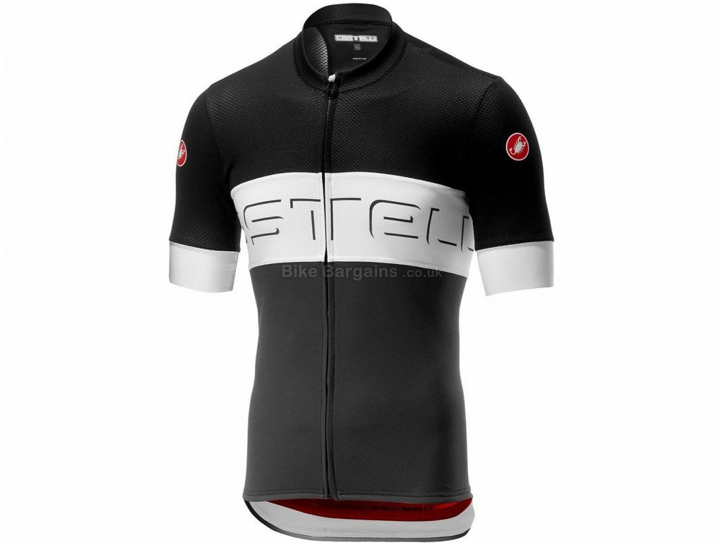 Castelli Prologo VI Short Sleeve Jersey XS, Black, Grey, Red, Men's, Short Sleeve, Weighs 160g, Polyester, Elastane