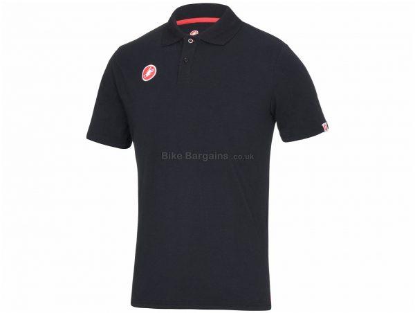 Castelli Race Day Polo Shirt XXL, XXXL, White, Men's, Short Sleeve, Cotton, Elastane