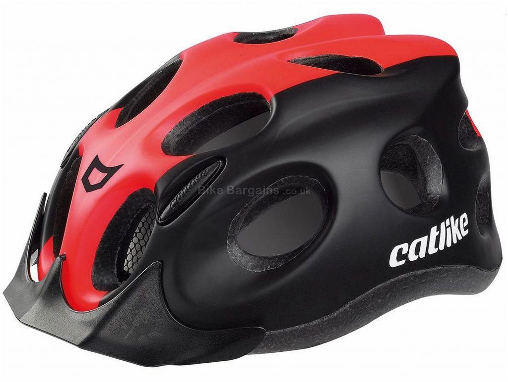 Catlike Tiko Urban Helmet S, Black, Red, Unisex, 16 vents, Polycarbonate