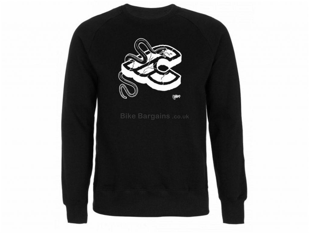 Cinelli Mike Giant Crewneck Jumper S, Black, White, Men's, Long Sleeve, Cotton