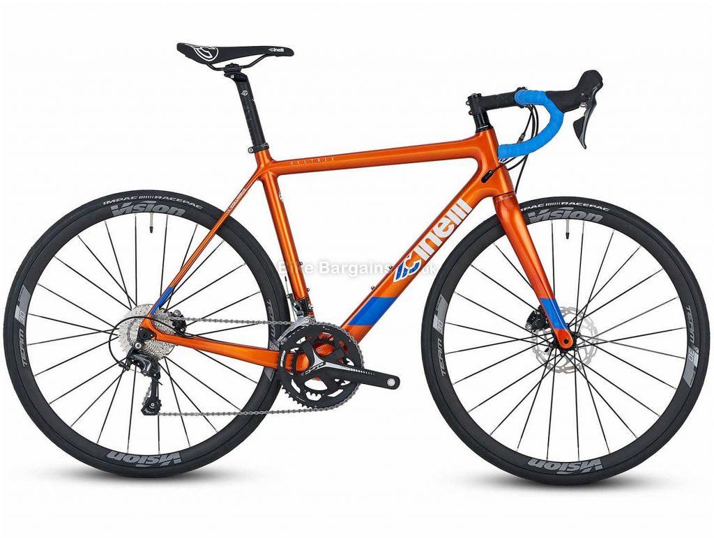 Cinelli Veltrix Disc Tiagra Hydro Carbon Road Bike 2020 XS, Blue, Orange, 20 Speed, Carbon Frame, Men's, 700c wheels, Disc, Double Chainring, 9kg