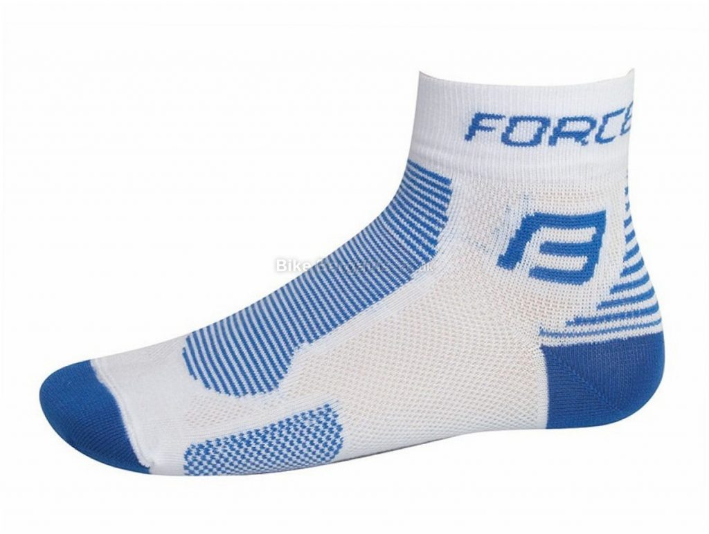 Force Classic Socks S,M, White, Blue, Polyester
