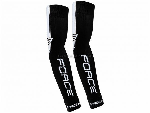 Force Knitted Arm Warmers L,XL, Yellow, White, Polyamide, Elastane