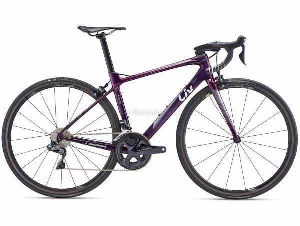 Giant Liv Langma Advanced Pro 0 Pro Compact Ladies Carbon Road Bike 2019 M, Purple, Carbon Frame, 22 Speed, 700c Wheels, Caliper Brakes