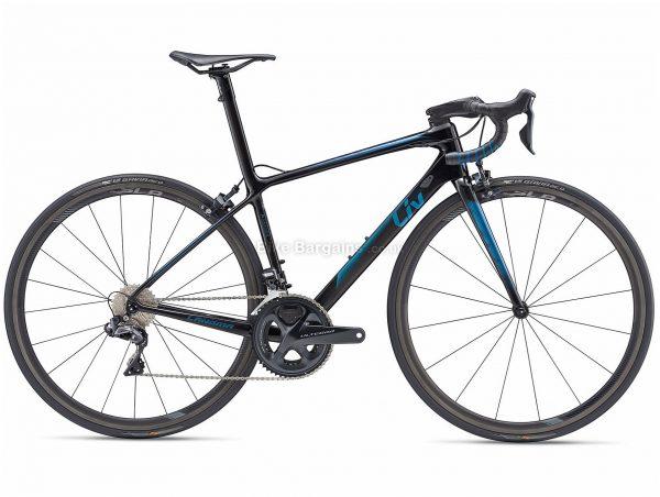 Giant Liv Langma Advanced SL 1 Pro Compact Ladies Carbon Road Bike 2019 M, Blue, Black, Carbon Frame, 22 Speed, 700c Wheels, Caliper Brakes