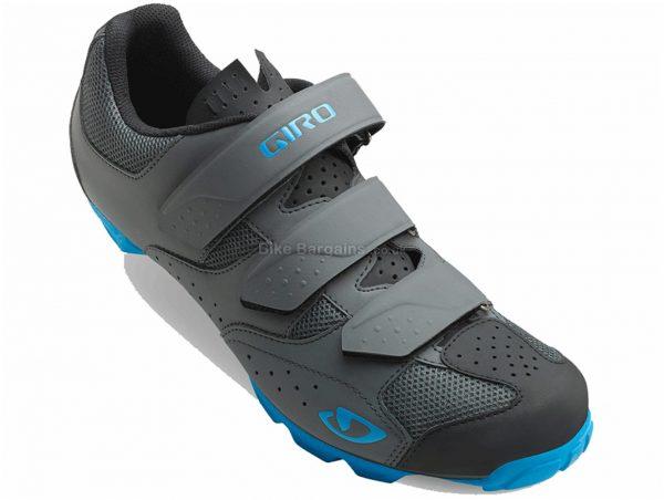 Giro Carbide R II MTB Shoes 41, Grey, Blue, 310g, Velcro Fastening, Nylon, Rubber, EVA