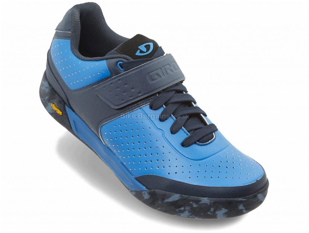 Giro Chamber II MTB Shoes 36,37,38, Blue, Black, 510g, Velcro, Laces Fastening, Nylon, Rubber