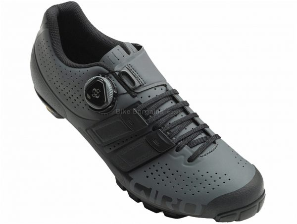 Giro Code Techlace MTB Shoes 40,43,44, Grey, Black, Green, 345g, Boa, Laces Fastening, Rubber, Carbon