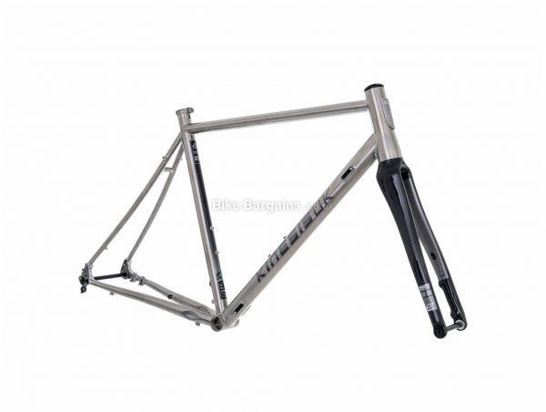 Kinesis GTD Titanium Disc Road Frame 51cm, Silver, Black, Titanium Frame, 700c wheels, Disc Brakes,