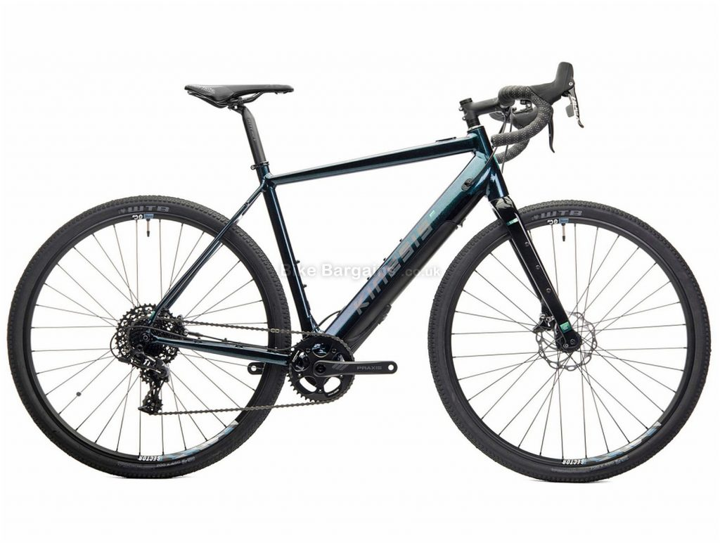 Kinesis Range Alloy Electric Gravel Bike XL, Black, Green, 700c wheels, Disc Brakes, Single Chainring, 11 Speed, Gravel usage, 15kg