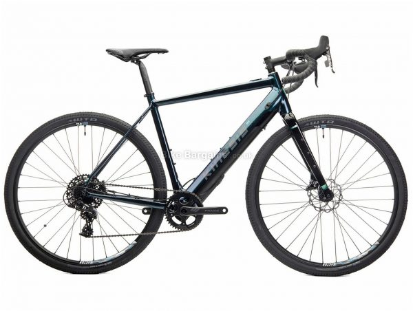 Kinesis Range Alloy Electric Gravel Bike XL, Black, Green, 700c wheels, Disc Brakes, Single Chainring, 11 Speed, Gravel usage, 15kg