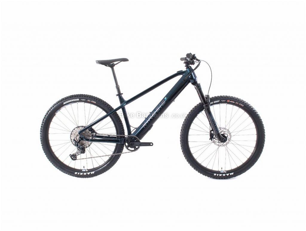 Kinesis Rise Pro Alloy Hardtail Electric Mountain Bike L,XL, Black, Blue, 19.5kg, Alloy Frame, 12 Speed, Disc Brakes, Single Chainring
