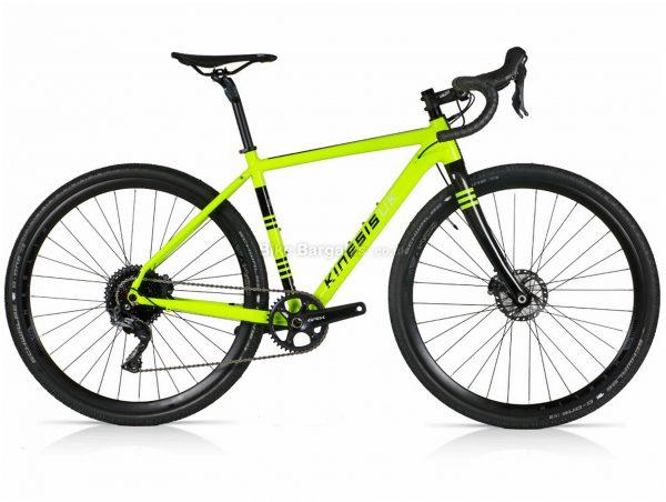 Kinesis Tripster AT GRX Alloy Gravel Bike 48cm, Yellow, Black, Alloy Frame, 11 Speed, 700c Wheels, Single Chainring, Disc Brakes